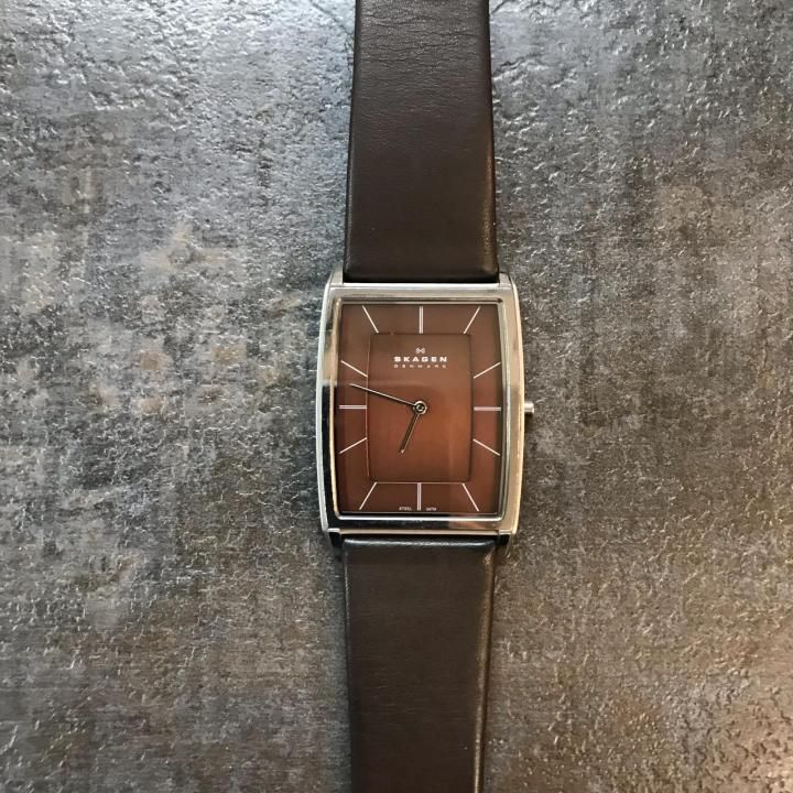 МУЖСКИЕ ЧАСЫ SKAGEN 857LSLD LEATHER RECTANGULAR