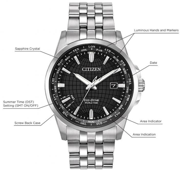Citizen World Time Eco-Drive BX1000-57E